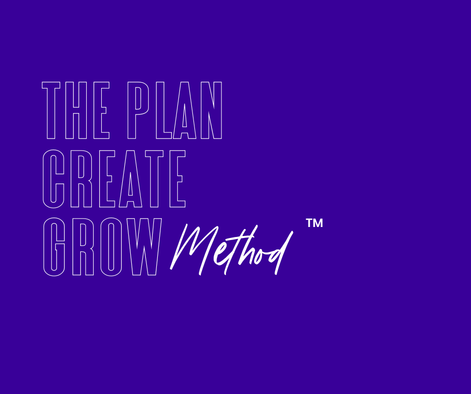 Plan Create Grow Method